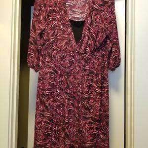 Style & co burgundy dress, 2X